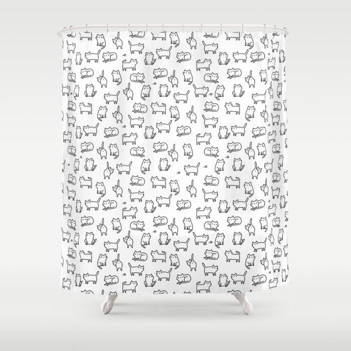 Cats Shower Curtain by annaalexeeva