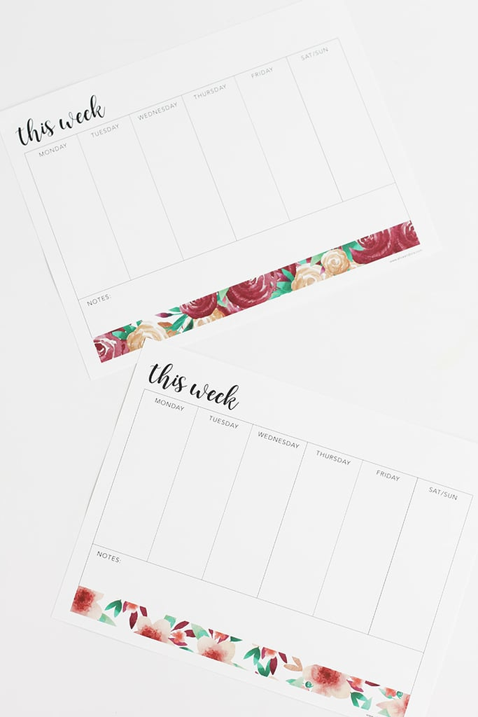 Free Printable To-Do Lists | Popsugar Smart Living