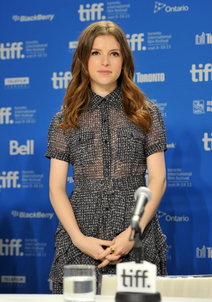 Anna Kendrick arrived at the 50/50 press conference.
