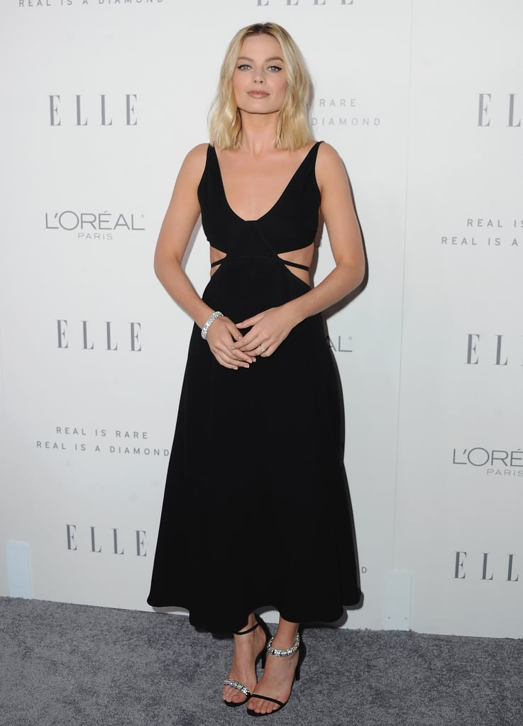Margot went for simple and stunning in Calvin Klein at Elle's annual Women in Hollywood celebration in October 2017.