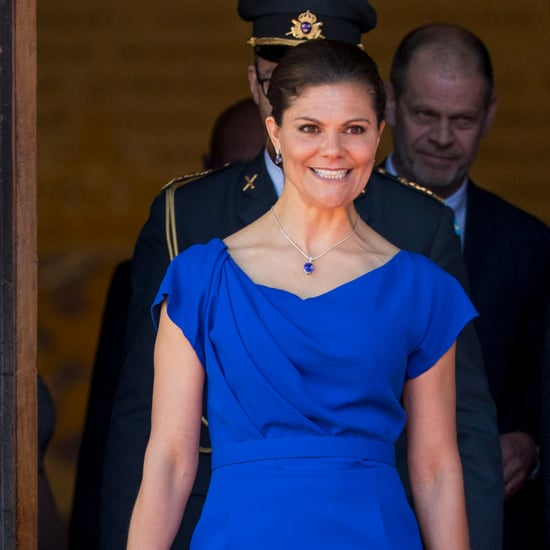 Princess Victoria's Stella McCartney Blue Clutch