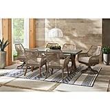 Hampton Bay Haymont Swivel Steel Wicker Outdoor Patio Dining Chair