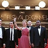 Nicole Kidman waved to the crowd in Cannes.