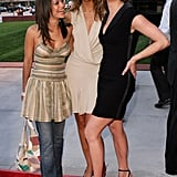 While her costars Mischa Barton and Melinda Clark looked sexy in minidresses, Rachel was glowing in her trendy coordinated separates.