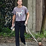 Leighton Meester Hangs Out West With Her Dog, and Possibly Soon, Vanilla Ice