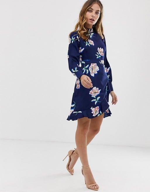 731e8ef16c0b4 Boohoo Petite Wrap Dress | Petite Spring Dresses | POPSUGAR Fashion ...