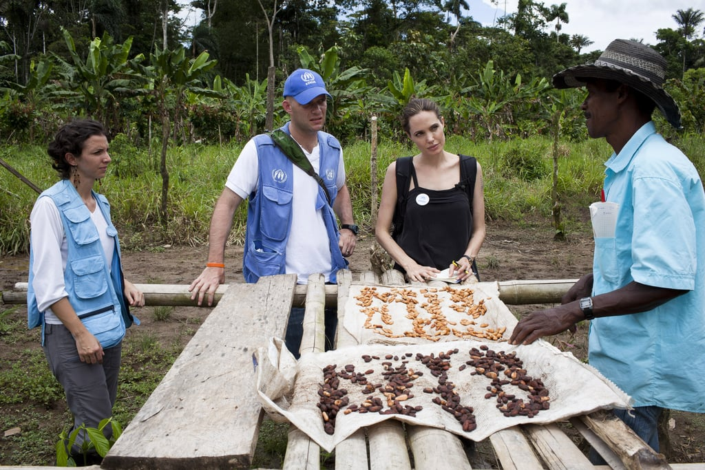 Angelina Jolie was in Ecuador with the UN.