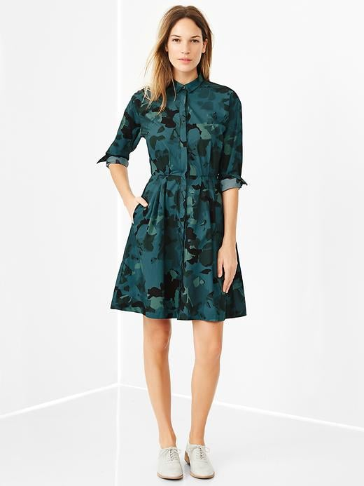 Gap Floral Camo Shirtdress