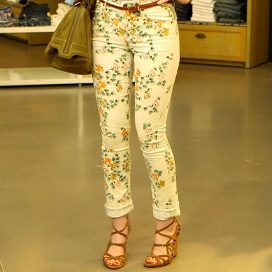 How to Wear Printed Floral Jeans
