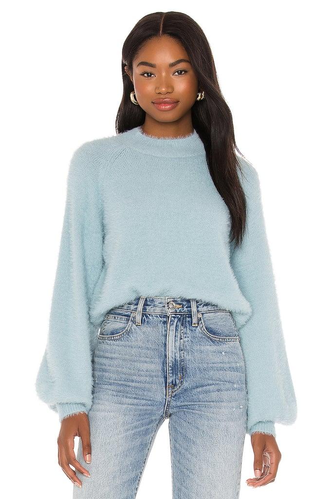 Bardot Belle Sleeve Fluffy Knit Sweater