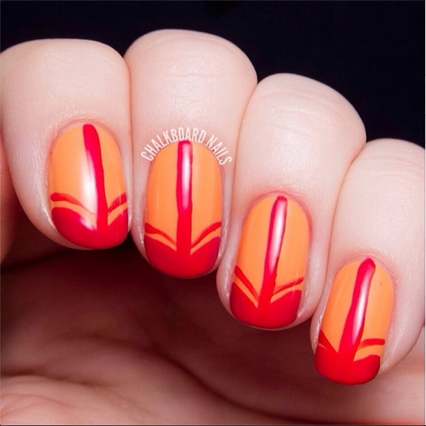 Fiery French Tips