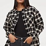 H&M Plaid Shirt Jacket