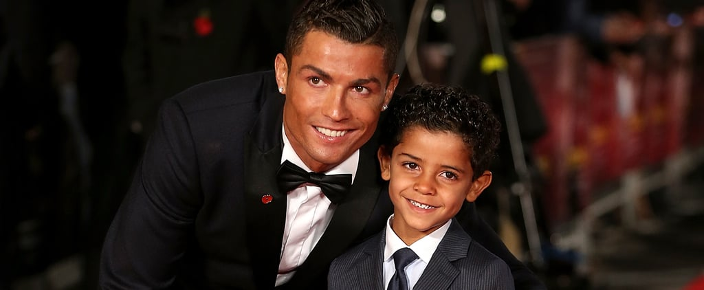Cristiano Ronaldo and His Son at the Premiere of Ronaldo