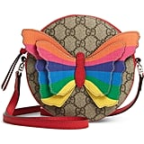 Gucci GG Supreme Rainbow Butterfly Crossbody Bag