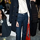Alexa Chung showed off her own boot-cut pair at Fashion Week.