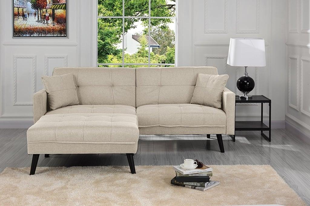 Mid-Century Modern Linen Fabric Futon Sofa Bed | Best Cheap ...