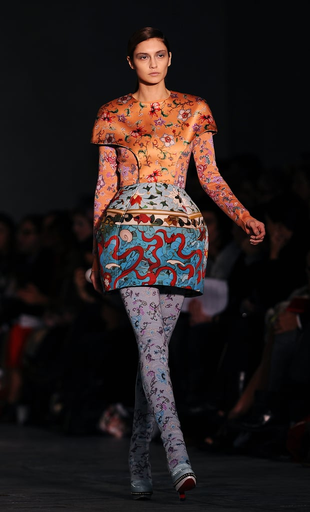 Mary Katrantzou: Because we can't get enough of her vivid prints and masterful pattern mixing. More from Mary Katrantzou's Fall 2011 collection here.