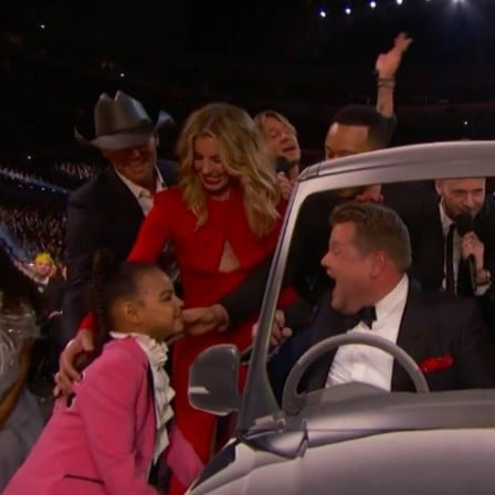 Blue Ivy in James Corden's Carpool Karaoke at 2017 Grammys