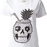 Saint Laurent Pineapple Skull T-Shirt