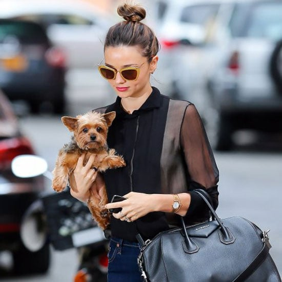Miranda Kerr Wearing Leopard Loafers