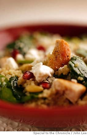 Today's Special: Turkey Couscous Salad with Pomegranates