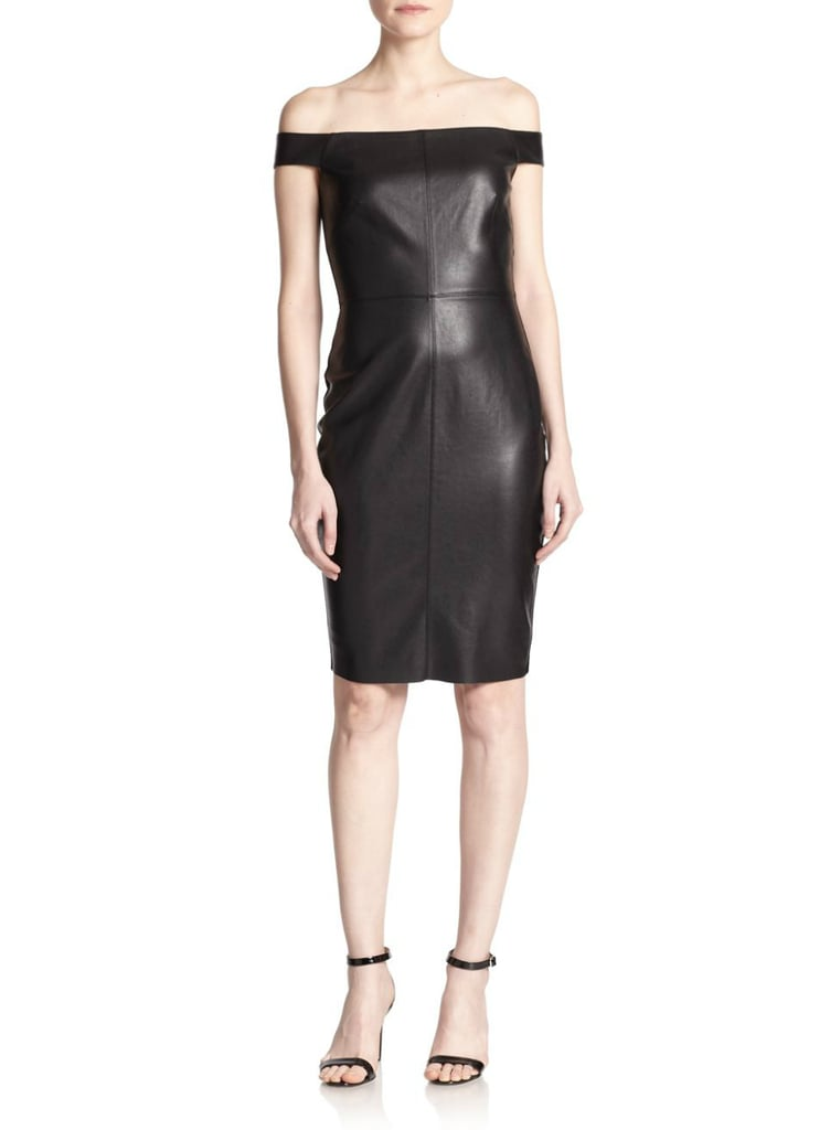Bailey 44 Off-the-Shoulder Faux-Leather Dress