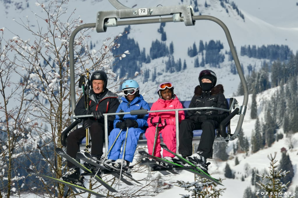 Madonna and her family venture all the way to the Swiss Alps in December 2013.