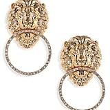 Lula Lion Door Knocker Earrings