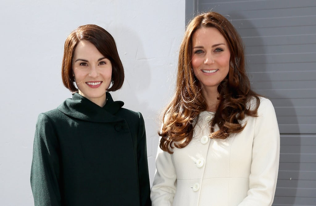 Michelle Dockery Poses With Kate Middleton