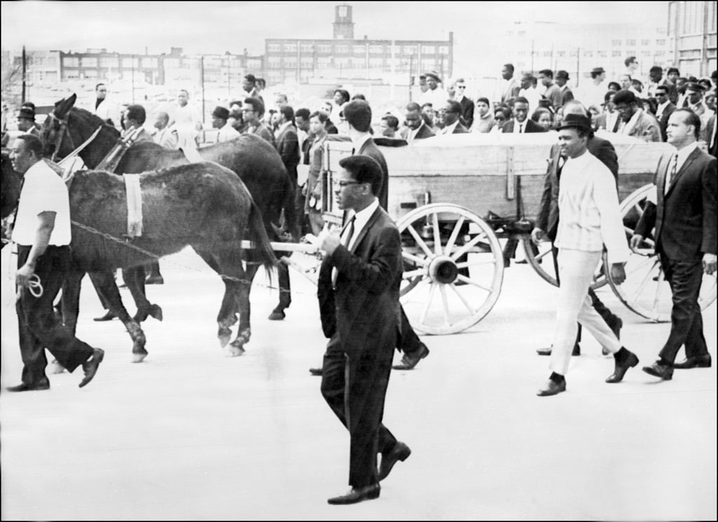 During his funeral in Atlanta on April 9, 1968, two mules pulled a cart that held his coffin.