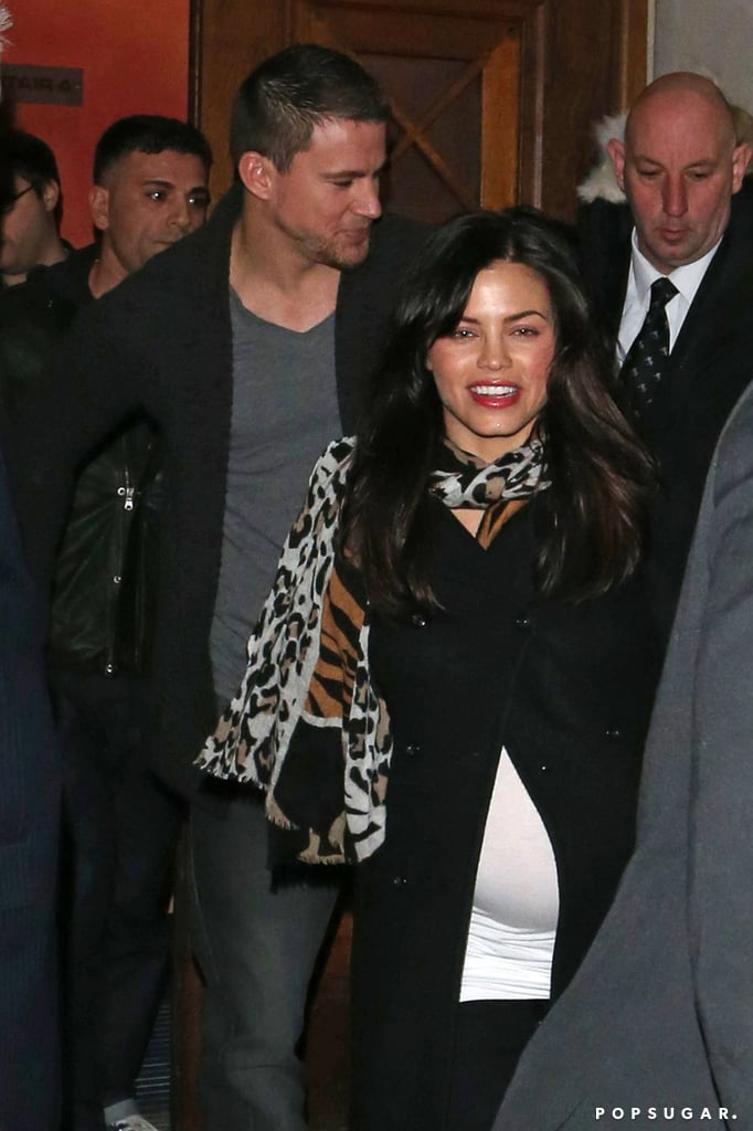 Channing Tatum and Jenna Dewan made their way out of an event for his movie White House Down in London.
