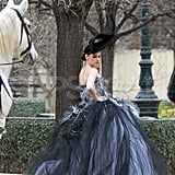 Kristen Stewart wore a ballgown for a Paris photo shoot.