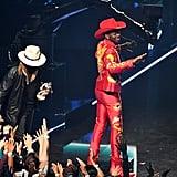 Lil Nas X and Billy Ray Cyrus at the 2019 MTV VMAs