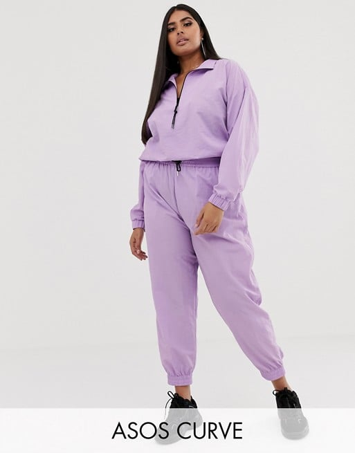 ASOS Design Curve track jacket and pant jogger