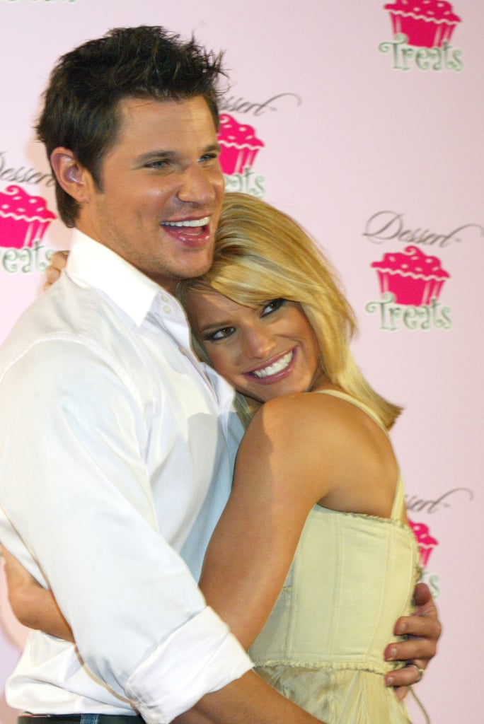 Nick supported his wife's fragrance line in February 2005.