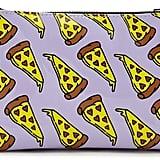 Pizza Print Makeup Bag