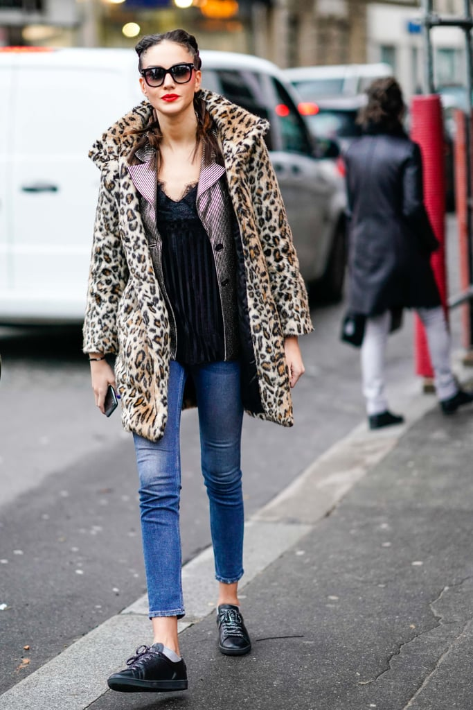 Style Your Leopard Print Coat With A Blazer Camisole