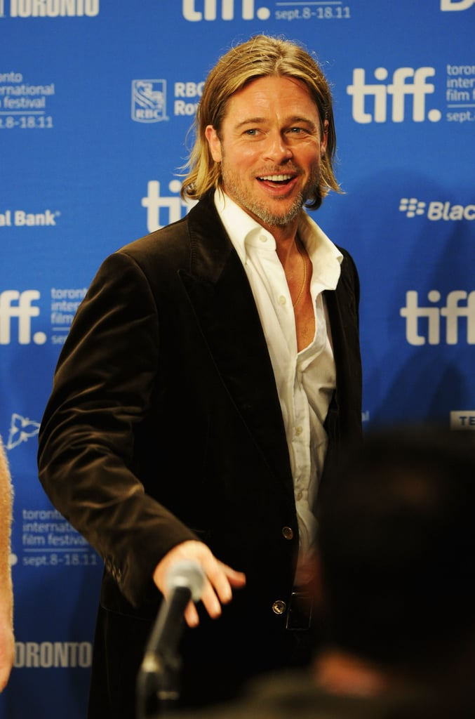Brad Pitt kept the room laughing.