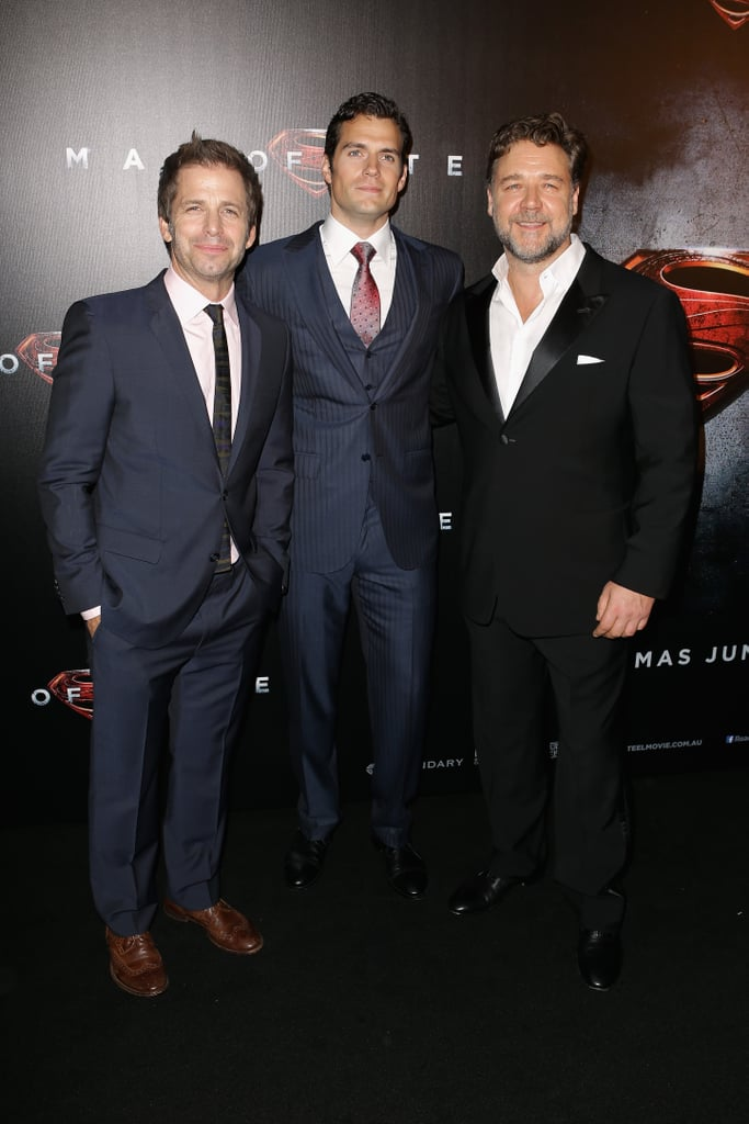 Zack Snyder, Henry Cavill and Russell Crowe brought Superman down under with the premiere of their new Clark Kent-film, Man of Steel, in Sydney on June 24.