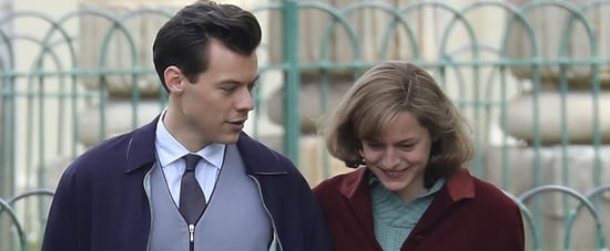 Harry Styles and Emma Corrin in My Policeman Set Photos