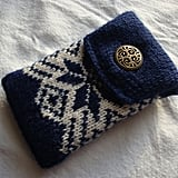 Smartphone Case in Navy Blue and White Fair Isle ($42)