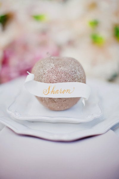 Glitzy Storybook Apple Place Settings