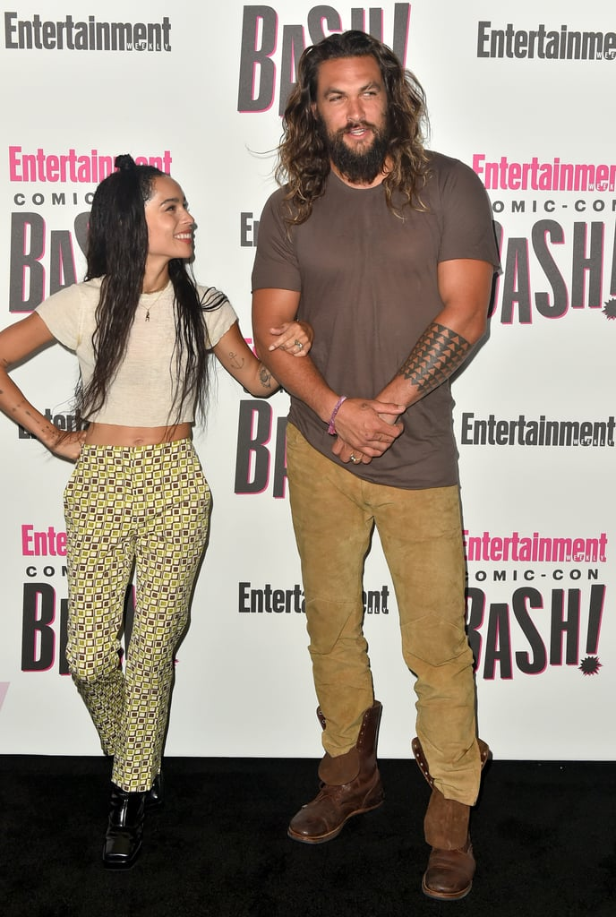 Jason Momoa and Zoë Kravitz at Comic-Con 2018