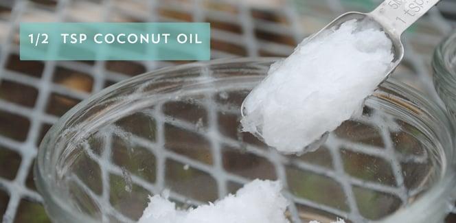 Measure 1/2 Teaspoon Coconut Oil