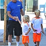 Gavin Rossdale made a coffee run on Saturday with his sons after soccer practice in LA.