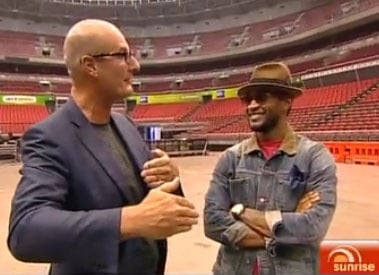 Sunrise's David Koch Goes Behind-the-Scenes of Usher's OMG Tour in Sydney at Acer Arena