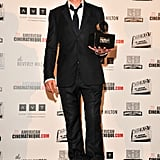 Robert Downey Jr collected his award.
