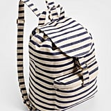 Baggu's Sailor Striped Backpack ($38) is perfect for a lazy day in the park.