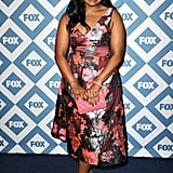 Mindy Kaling was pretty in pink.