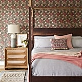 "When it came to designing a bedroom she truly felt at home in, Hilary upped the ante by incorporating a bold floral wallpaper. ""I grew up with wallpaper. My mum was fanatical about it, so it makes me feel nostalgic,"" Hilary said."